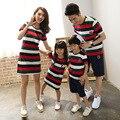 Preax crianças camisetas vestido de mãe e filha roupas filha nova família real do olhar da menina crianças moda moda camisa listrada t