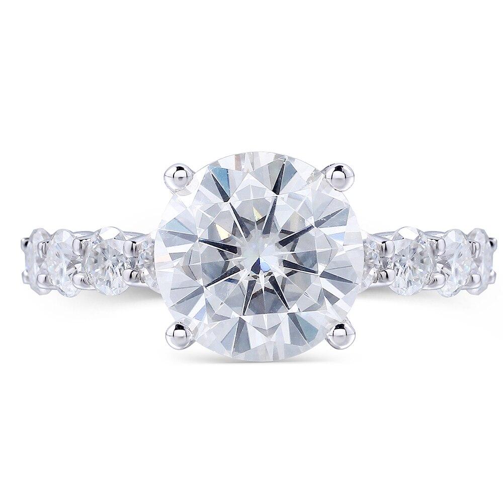 b620187b1ac6d 2 Carat Lab Grown Moissanite Diamante Contas Brancas Anel Eternidade  Moissanite moissanite Pedra Solta Accent 14 K Jóias de Ouro Branco