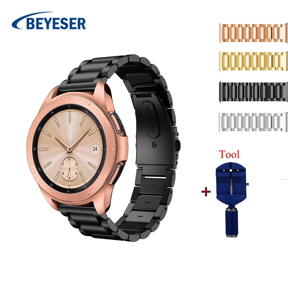 20mm Stainless Steel Watch Band For Samsung Galaxy 42mm Strap For Samsung Gear S2 smart watch Link bracelet with Adjust Tool20mm Stainless Steel Watch Band For Samsung Galaxy 42mm Strap For Samsung Gear S2 smart watch Link bracelet with Adjust Tool
