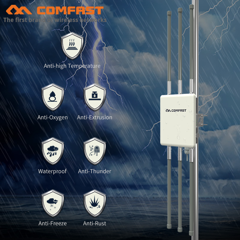 COMFAST 1750Mbps Wireless Outdoor AP Dual Band 5Ghz 2.4Ghz 360 Degree WiFi Cover routers Wifi Base Station with 6*8dBi antennas|Wireless Routers| |  - title=