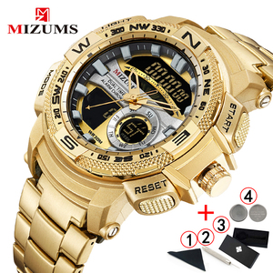 Image 1 - Relogio Masculino 2019 Gouden Horloge Mannen Luxe Merk Golden Militaire Mannelijke Horloge Waterdicht Rvs Digitale Horloge 2019