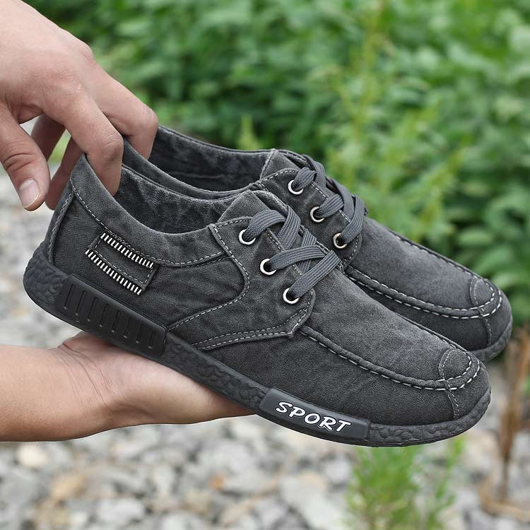 202 gray lace-up