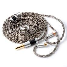 Câble de mise à niveau plaqué argent NICEHCK 8 Core TypeC type c/3.5/2.5/4.4mm MMCX/2Pin pour KZZSN/AS10 CCAC10 NICEHCK NX7/F3 kztype c