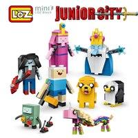 LOZ Adventure Time Finn E Jake Ice King Figura Giocattolo Mini Blocchi di costruzione 545 pz Junior Città Per Le Età 6 + Ufficiale Autorizzato 1818