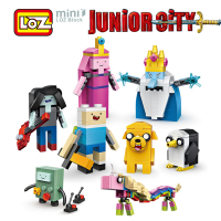 LOZ Adventure Time Finn And Jake Ice King Figure Toy Mini Building Blocks 545pcs Junior City