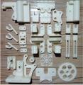 Reprap Prusa i3 3 D принтер печатные части комплект белый цвет ABS бесплатная доставка