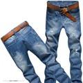 2016 новое поступление горячая распродажа высокое качество тонкий прямой мода джинсовые джинсы для мужчин, Розничная и оптовая продажа дизайнер хлопок джинсы мужчины, By2051