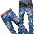 2016 recién llegado de la venta buena calidad delgada recta mezclilla moda hombre jeans, Retail & Wholesale diseñador Jeans de algodón hombres, BY2051