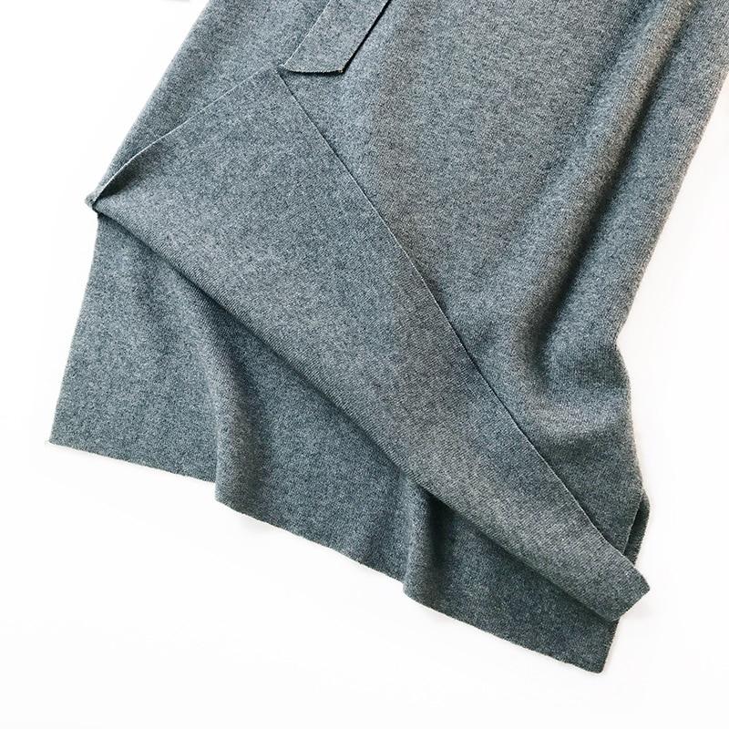 344 water velvet knit skirt women 2018 autumn and winter new women's long section high waist bag hip split A skirts 12