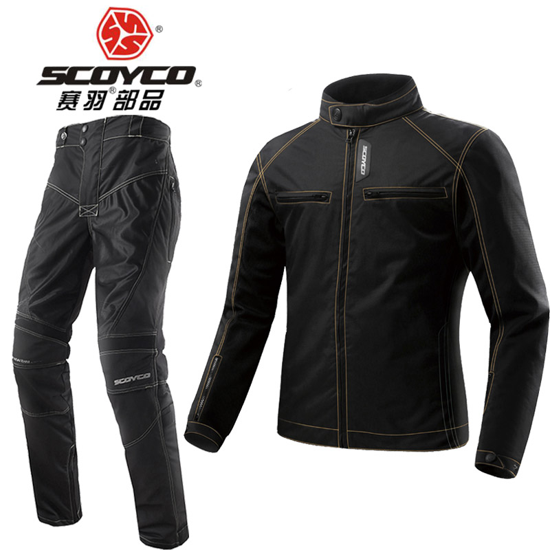 2017 Summer New Mesh cloth SCOYCO Motorcycle Jacket Pants Locomotive clothes motorbike jackets trousers pant CE Protective