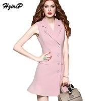 HziriP 2017 New Summer Women Business Blazers Dresses Office Ladies Tank V Neck Sleeveless Dress A