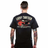 Novelty Mens T Shirt For Men Hip Hop T Shirts Lucky Old 49 Retro Hot Rod