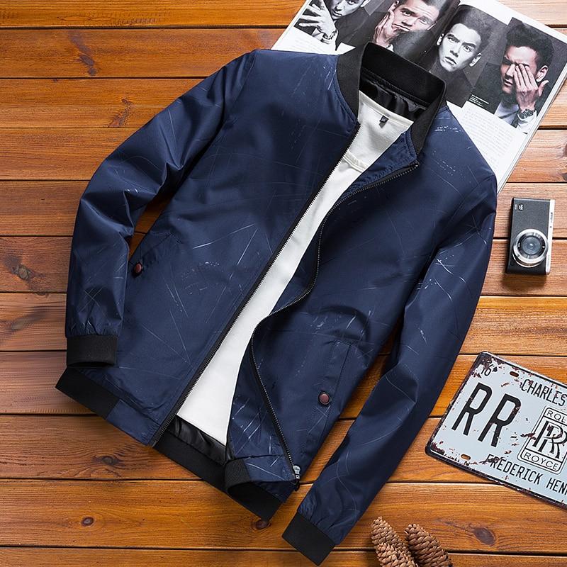 Baseball Jacket Men Brand Casual Solid Fashion Slim Zipper Jackets  1
