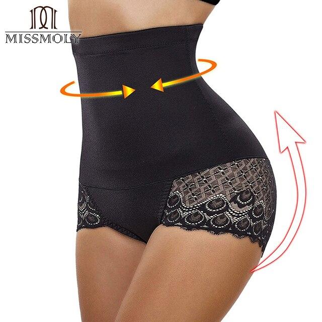 740af7c44b Miss Moly Women High Waist Tummy Control Shapewear Body Shaper Lace  Seamless Panties Slimming Cincher Corset
