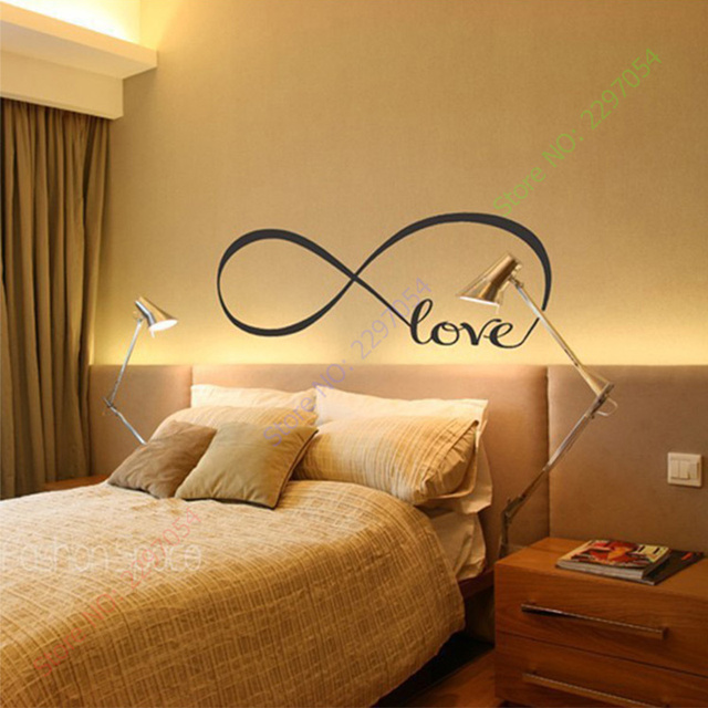 New Personalized Infinity Symbol LOVE Bedroom Wall Decal Quotes ZY8274  Vinyl Wall Stickers Butterflies Vinyl Wall