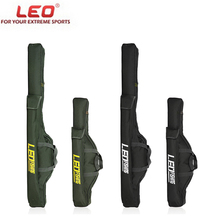LEO Folding Fishing Rod Bags Fishing Bags 420D Zipped Case Fish Pole Tools Storage Bag Case Holder Gear Tackle Pesca 100cm/150cm