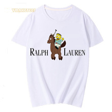 5e82e271 Harajuku Japanese Cartoon Ralph Wiggum Lauren Print T-Shirt Men Summer  Fashion Unisex Tshirt Tops