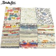 Booksew, 40x50 см, хлопок, ткань Telas Tissu, мультфильм, животные, цветы, серия, Анкара, ткань, подушка, одеяла, сделай сам, пэчворк, для детей