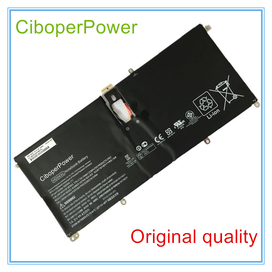 Orginal HSTNN-IB3V HD04XL batteries for XT 13-2000eg 13-2021tu 13-2120tu compatible for HSTNN-IB3V HD04XL new laptop battery for hp envy spectre xt 13 2000eg 13 2004tu 13 2005tu 13 2023tu 13 2050nr 13 b000 b8w13aa