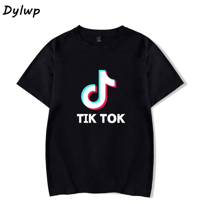 Tik Tok   T     shirt   Women Short-Sleeved Round Neck   T  -  shirt   2019 Summer Ladies Casual Cartoon Print Loose Tops Plus Size XXS-4XL