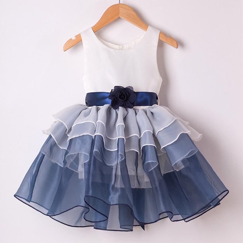 2017 Fashion Kids Summer Dress Little Girls Clothes Princess Girl