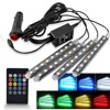 Adjustable LED Chips Auto Car RGB LED Strip Interior Light Lamp Atmosphere Lights Accessories Wireless Music