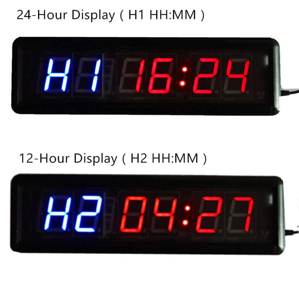 24 Timer Sound larger stopwatch big sound fitness crossfit interval