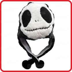 Череп пришельца панда призрак мультфильм Плюшевые Пушистые с капюшоном HAT шапочка EARMUFF-Хэллоуин