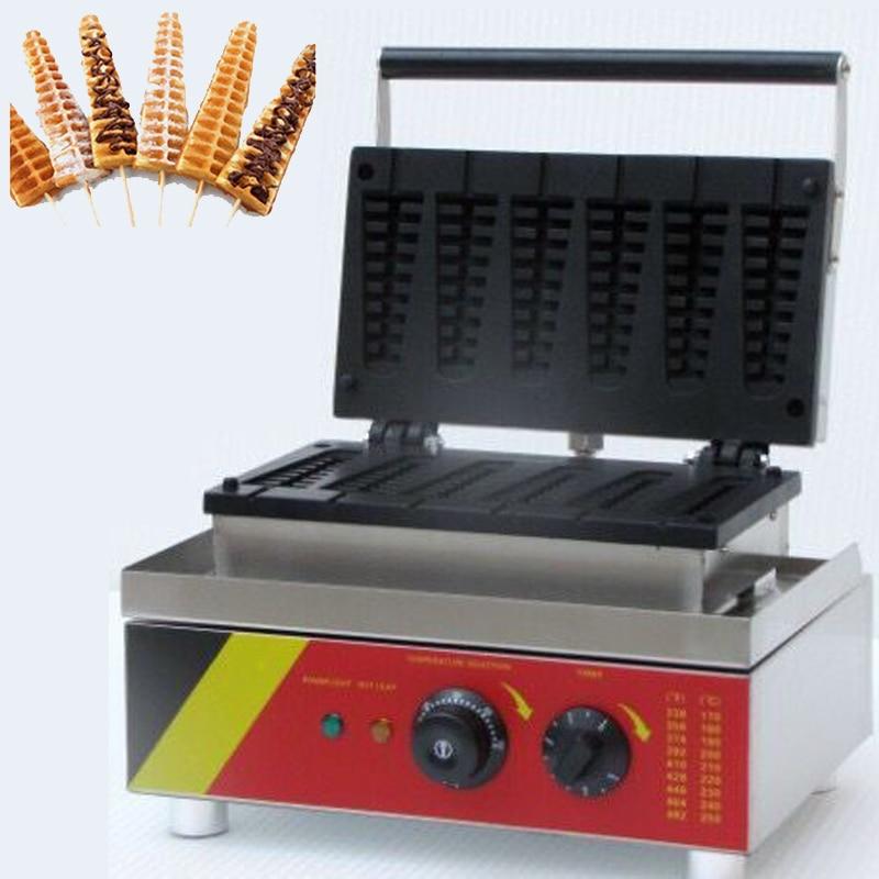 lolly waffle na vara da máquina do