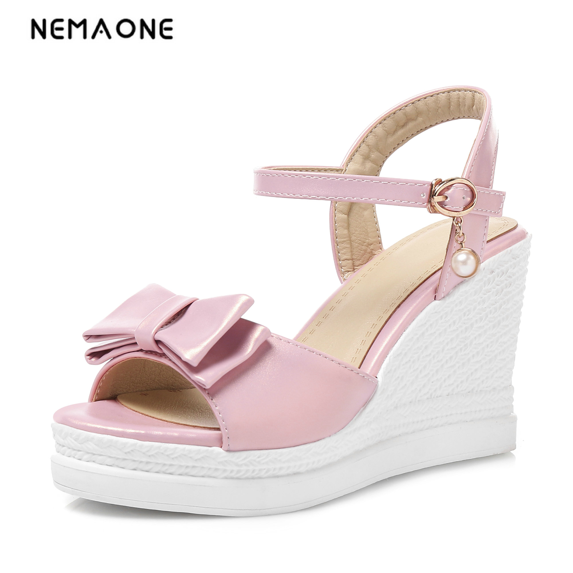 NEMAONE Sexy Open toe Wedges Gladiator Sandals Women High Heels Platform Sandals Summer Women's Shoes Woman summer shoes woman platform sandals women soft leather casual open toe gladiator wedges women nurse shoes zapatos mujer size 8