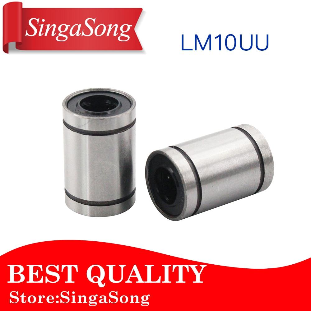 Free shipping! 12pcs LM10UU 10mm Linear Bushing CNC 10mm linear ball bearing free shipping lm50uu linear bushing 50mm cnc linear bearings