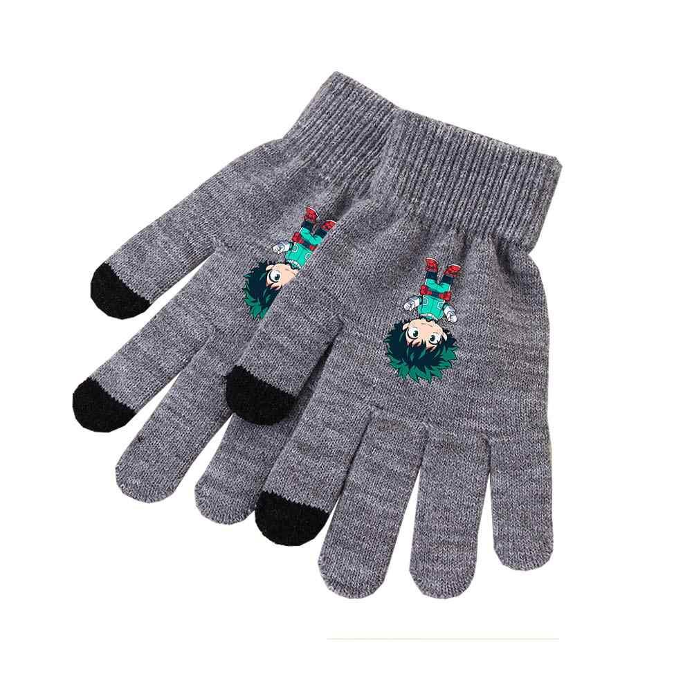 81ace6689ae ... My Hero Academia Izuku Midoriya Katsuki Bakugou All Might Shoto  Todoroki Tsuyu Asui Knitted Gloves Cosplay ...