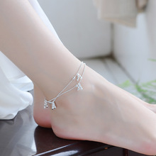 TJP New Arrival Female Silver Peanut Anklets Jewelry Top Quality 925 Bracelets For Women Party Accessories Christmas Gift