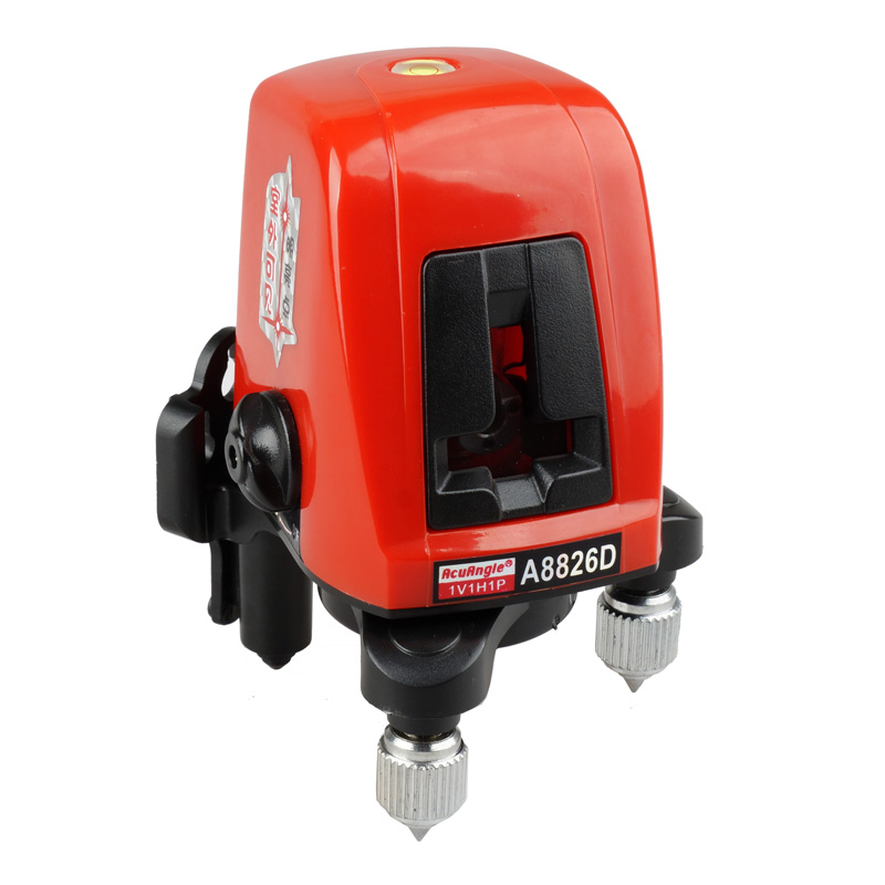 Handheld A8826D 360degree self- leveling Cross Laser Level 1V1H Red 2 line 1 point Free shipping a8826d better than ak435 360degree self leveling cross laser level 1v1h red 2 line 1 point hot sale
