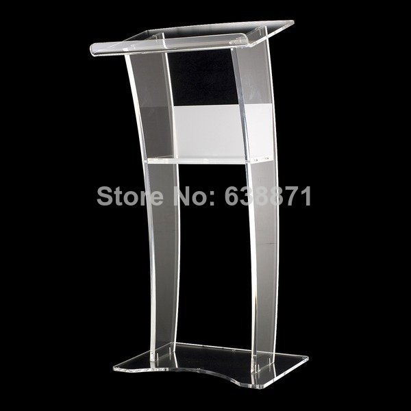 Free Shiping Clear Modern Design Customized Acrylic Lectern