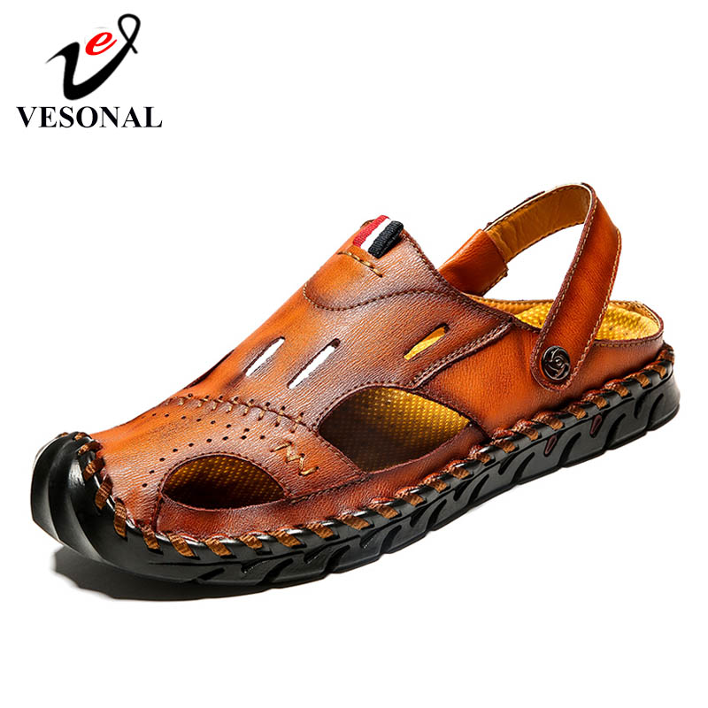 VESONAL Men's Sandals Footwear Beach-Shoes Comfortable Male Outdoor Casual Summer Fashion title=