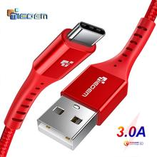 TIEGEM usb type-C кабель для samsung S9 S8 Быстрая зарядка type-C мобильный телефон зарядный провод USB C кабель для Xiaomi mi9 Redmi note 7