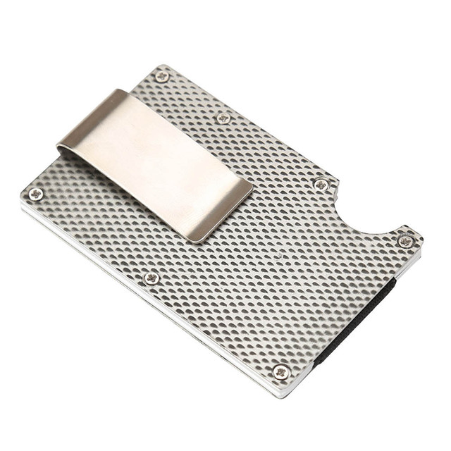 Aelicy Metal Mini Money Clip Brand Fashion Black White Credit Card ID Holder Business Anti-chief Wallet money clip wallet 2019 A 5