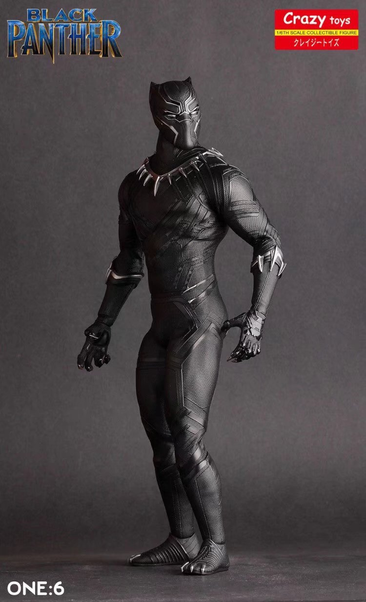 Black Panther Crazy Toys Action Figure Toy Brinquedos 28cm