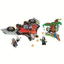 Bela Compatible Legoe giftse 10743 DC Comics Лига Справедливости Супергерои Строительные Блоки Кирпичи Игрушки Marvel Ravager Attack Gifts