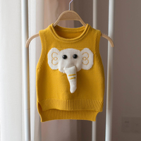 Baby vest baby girl clothes cute vest for girls winter kid vests cartoon sweater for girls clothing