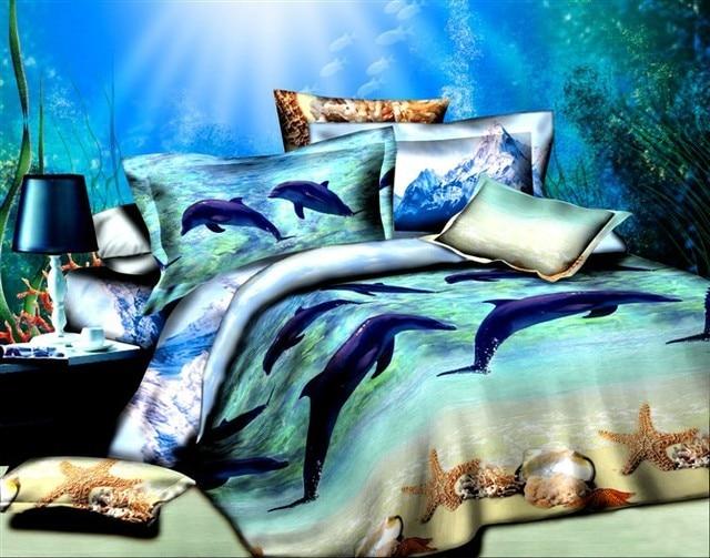 Elegant Ocean Comforter Set/quilt Cover /duvet Cover Queen/beach Bedding/ocean Bed