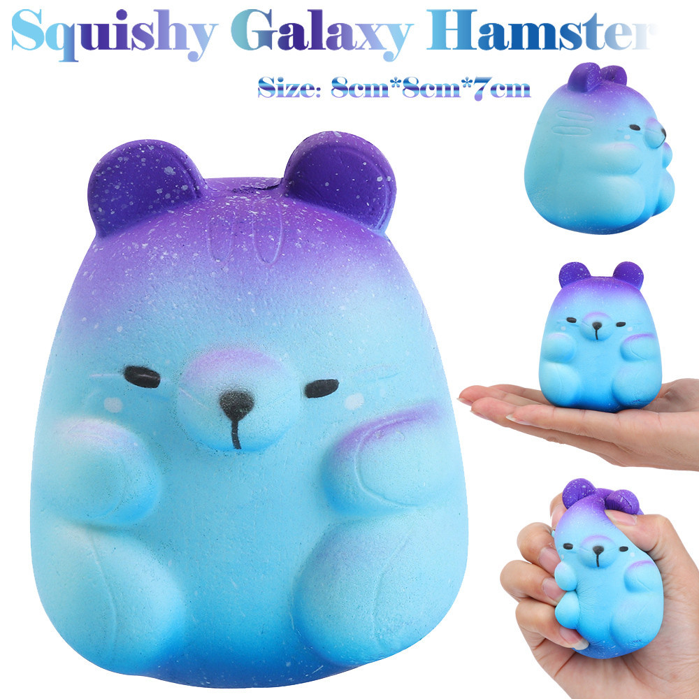 Squish Antistress 8cm Animal Squishies Galaxy Hamster Squishies Slow Rising Squeeze Scented Stress Relieve Toys For Children