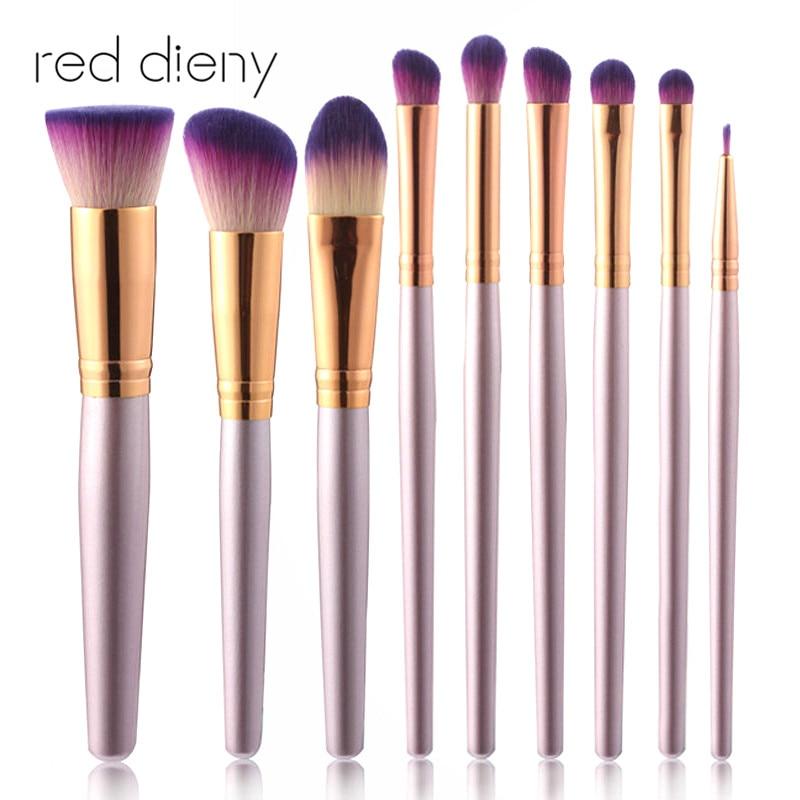 9 Pcs Professional Unicorn Makeup Brushes Set Beauty Cosmetic Eyeshadow Lip Powder Face Pinceis Tools Kabuki Kwasten Brush Kits mix colour 24 pcs pack professional soft makeup brushes eyeshadow powder lip cosmetic set case