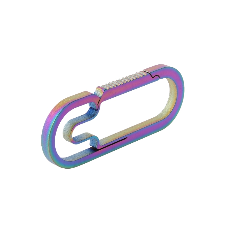 2018 EDC Outdoor Camping Carabiner Titanium Alloy Keychain Hanging Buckle Snap Hooks Aug21_33