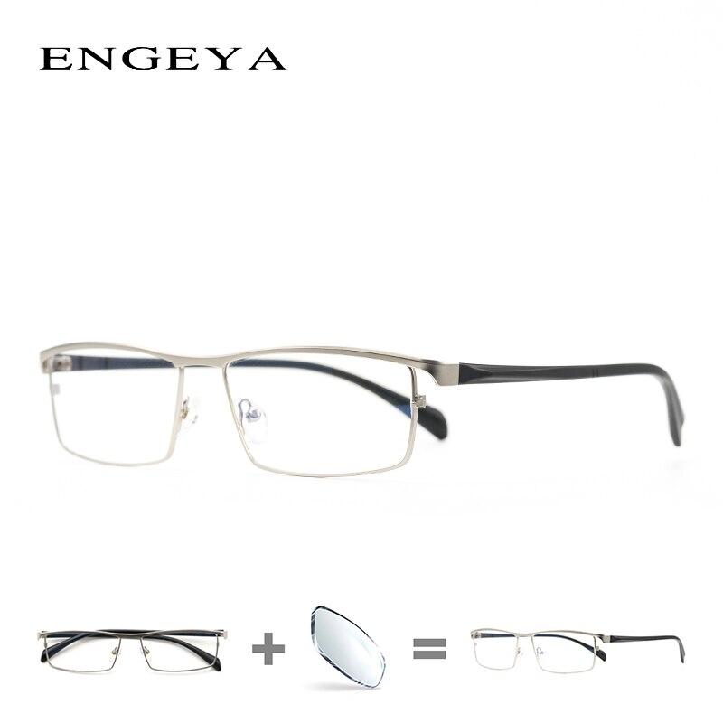 Сплав рамки Оптический для мужчин рецепт очки Бизнес брендовая дизайнерская обувь ясно Близорукость Компьютерные очки рамки #001