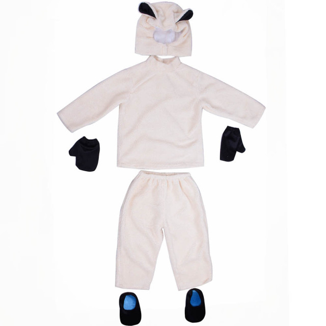 Little Lamb Costume Kids Sheep Cosplay Suit Animal Costume Fancy Dress Top Pants with Hood Halloween  sc 1 st  AliExpress.com : lamb costumes for adults  - Germanpascual.Com