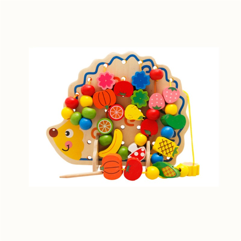 Permalink to Learning Education Wooden Toys 82 Pcs Hedgehog Fruit Beads Montessori Oyuncak Educational Toy For Children