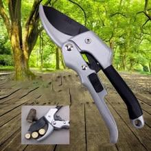 Tesoura para jardim, tesoura de mão de 20cm, com aparação de planta, ferramenta de horticultura, tesoura de galhos, poda de orquídea, corte de secateur