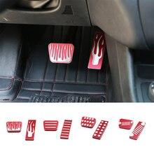 SHINEKA – couvercle de pédale de frein à pied de voiture en alliage d'aluminium pour Jeep Cherokee 14-16, accessoires d'intérieur
